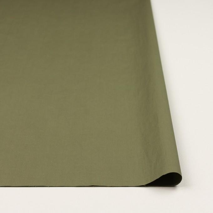 コットン&ポリウレタン×無地(カーキグリーン)×タイプライター(高密ローン)・ストレッチ_全4色 イメージ3