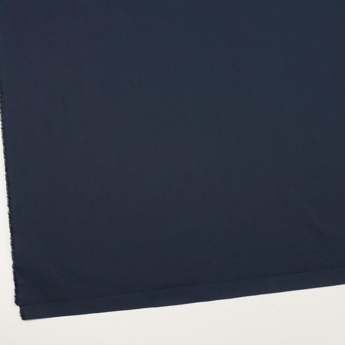 コットン&ポリウレタン×無地(ネイビー)×タイプライター(高密ローン)・ストレッチ_全4色 イメージ2