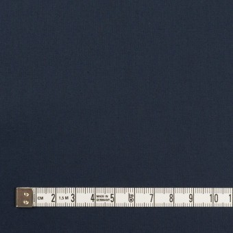 コットン&ポリウレタン×無地(ネイビー)×タイプライター(高密ローン)・ストレッチ_全4色 サムネイル4