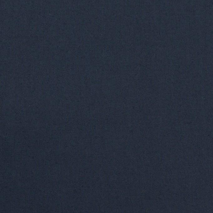 コットン&ポリウレタン×無地(ネイビー)×タイプライター(高密ローン)・ストレッチ_全4色 イメージ1