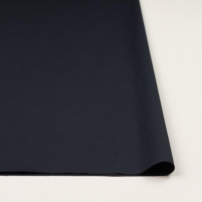 コットン&ポリウレタン×無地(ダークネイビー)×タイプライター(高密ローン)・ストレッチ_全4色 イメージ3
