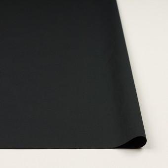 コットン&ポリウレタン×無地(ブラック)×タイプライター(高密ローン)・ストレッチ_全4色 サムネイル3
