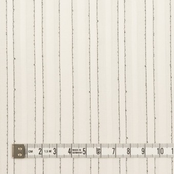 コットン&シルク混×ストライプ(ミルク&ブラック)×ボイルジャガード サムネイル4
