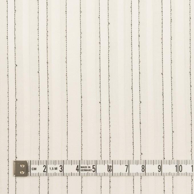 コットン&シルク混×ストライプ(ミルク&ブラック)×ボイルジャガード イメージ4