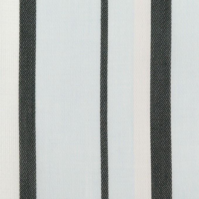コットン×ストライプ(サックス)×ボイルジャガード_全2色 イメージ1