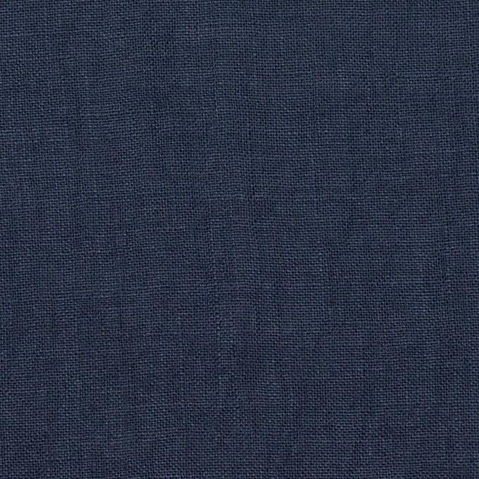 リネン×無地(プルシアンブルー)×薄キャンバス・ワッシャー イメージ1
