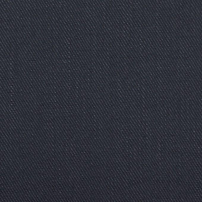 リネン&コットン混×無地(ネイビー)×サージストレッチ イメージ1