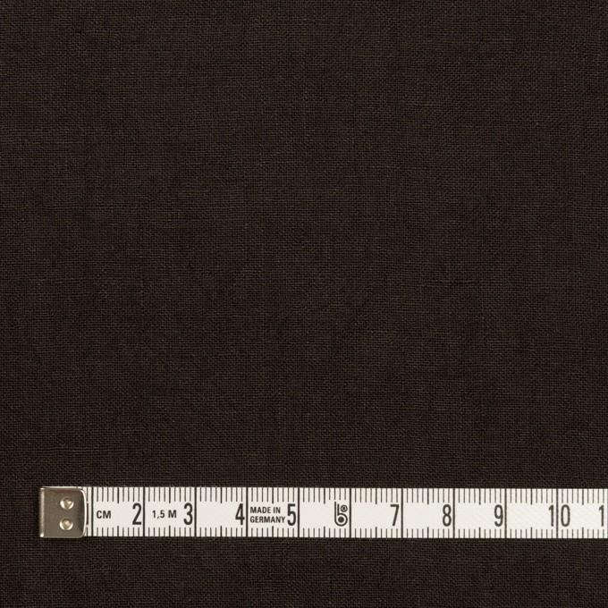 リネン×無地(チャコールブラック)×薄キャンバス・ワッシャー イメージ4