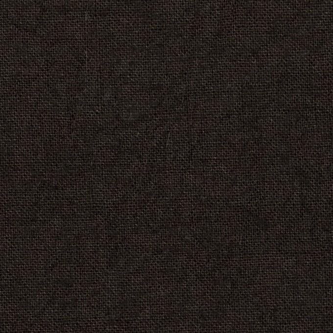 リネン×無地(チャコールブラック)×キャンバス イメージ1