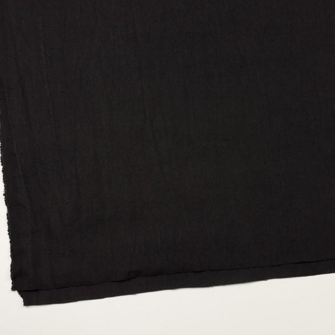コットン&リネン×無地(ブラック)×キャンバス イメージ2