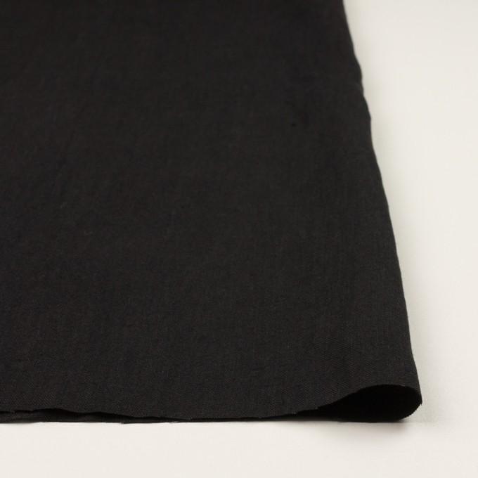 コットン&リネン×無地(ブラック)×キャンバス イメージ3