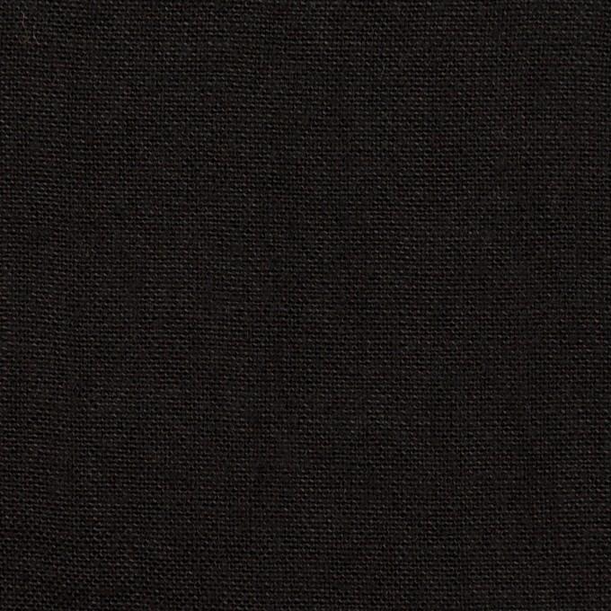 コットン&リネン×無地(ブラック)×キャンバス イメージ1
