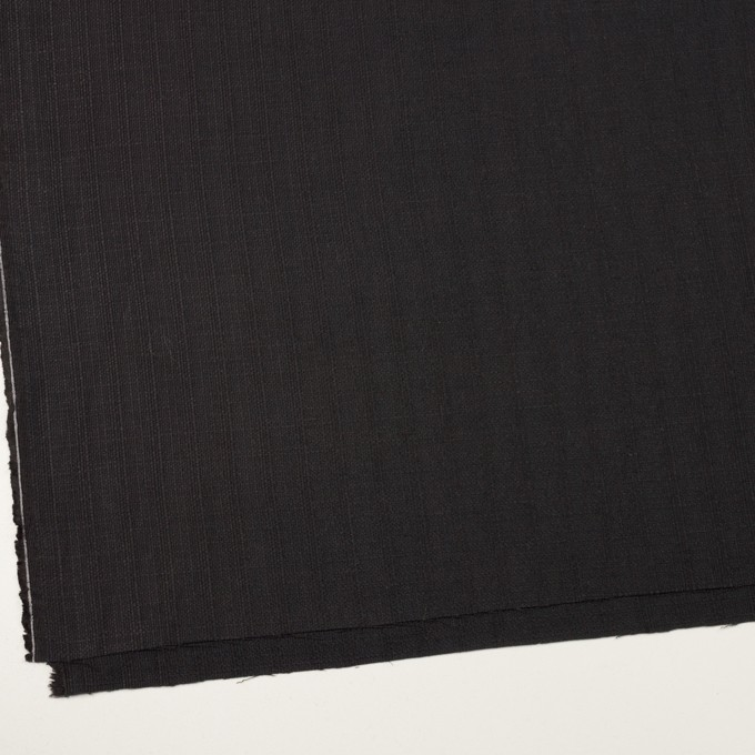 リネン&コットン×無地(チャコールブラック)×斜子織 イメージ2