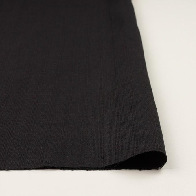 リネン&コットン×無地(チャコールブラック)×斜子織 イメージ3