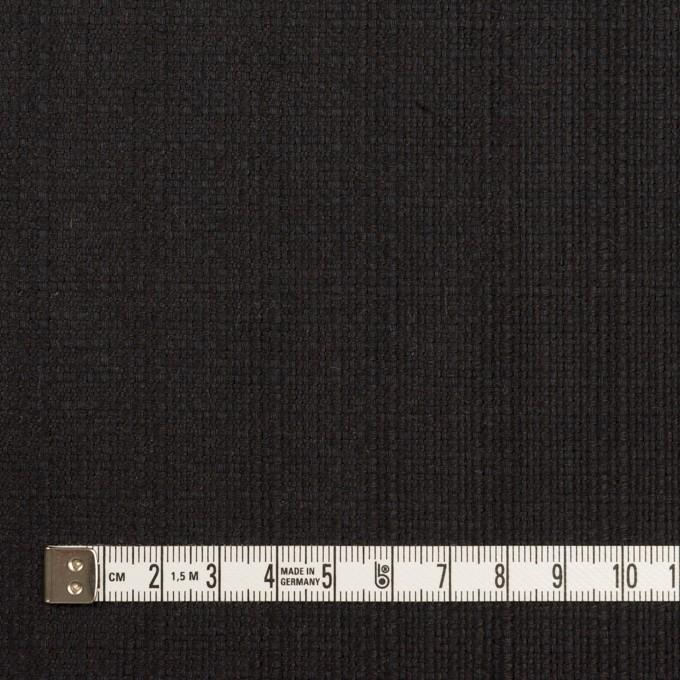 リネン&コットン×無地(チャコールブラック)×斜子織 イメージ4