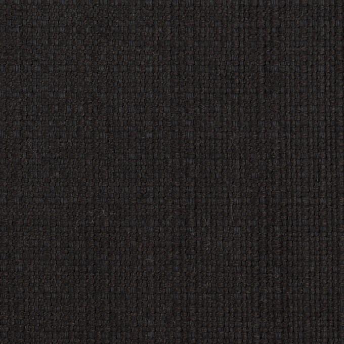 リネン&コットン×無地(チャコールブラック)×斜子織 イメージ1