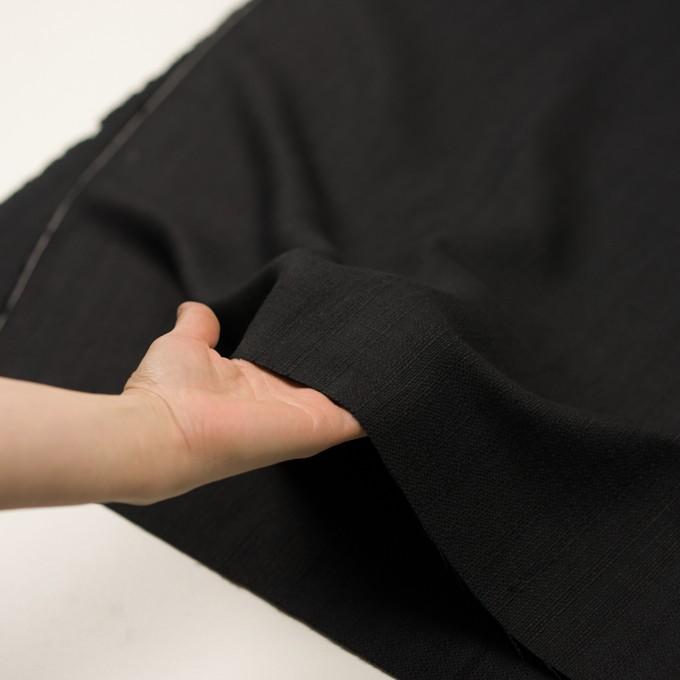 リネン&コットン×無地(チャコールブラック)×斜子織 イメージ5