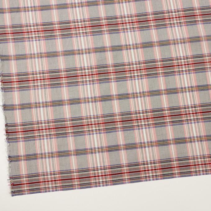 コットン&シルク×チェック(シルバーグレー、ピンク&グレープ)×オーガンジー イメージ2