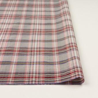 コットン&シルク×チェック(シルバーグレー、ピンク&グレープ)×オーガンジー サムネイル3