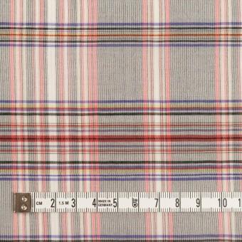 コットン&シルク×チェック(シルバーグレー、ピンク&グレープ)×オーガンジー サムネイル4