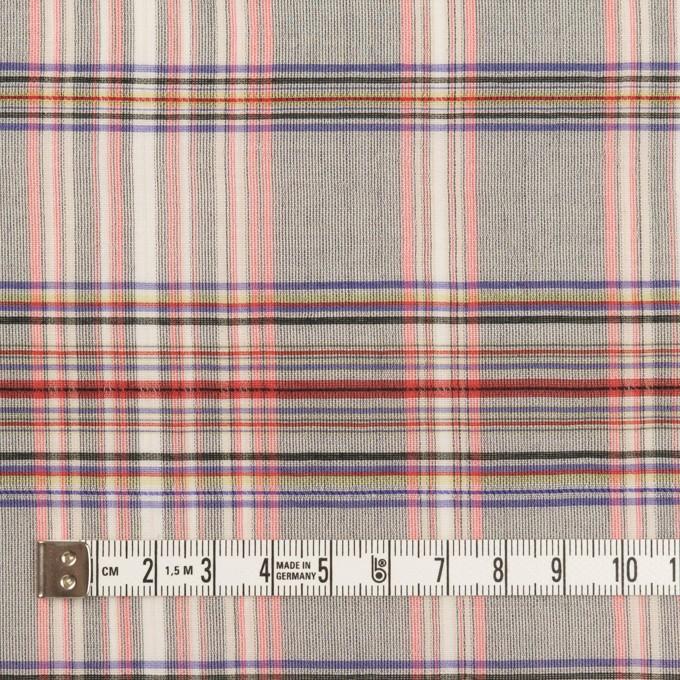 コットン&シルク×チェック(シルバーグレー、ピンク&グレープ)×オーガンジー イメージ4
