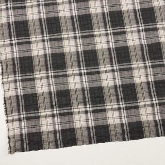 コットン&テンセル混×チェック(チャコールグレー&ペールピンク)×ボイルシャーリング サムネイル2
