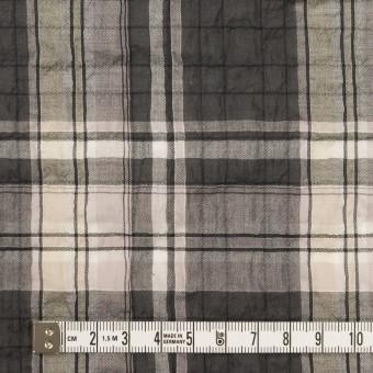 コットン&テンセル混×チェック(チャコールグレー&ペールピンク)×ボイルシャーリング サムネイル4