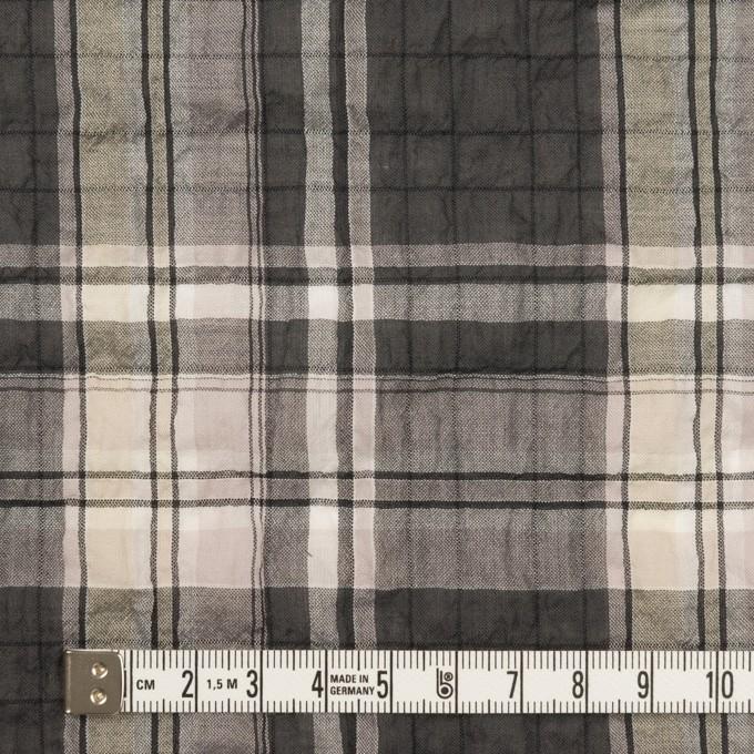 コットン&テンセル混×チェック(チャコールグレー&ペールピンク)×ボイルシャーリング イメージ4