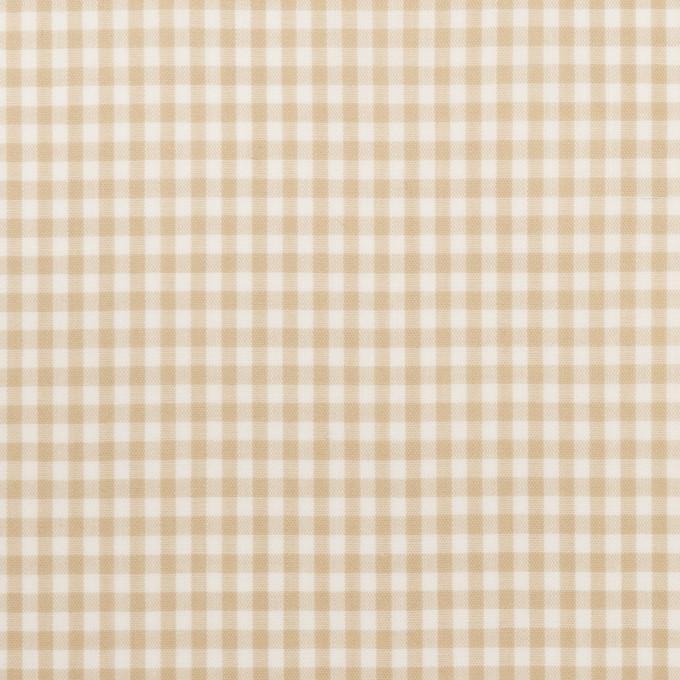 コットン×チェック(ベージュ)×ローン_全2色 イメージ1