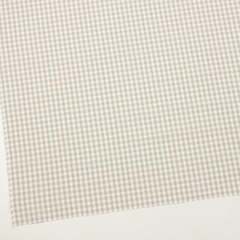 コットン×チェック(グレイッシュベージュ)×ポプリン&斜子織 サムネイル2