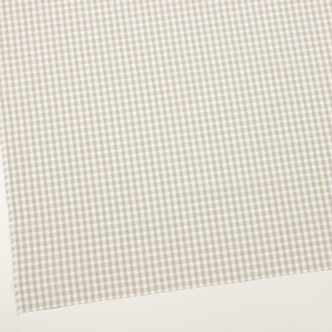 コットン×チェック(グレイッシュベージュ)×ポプリン&斜子織 イメージ2