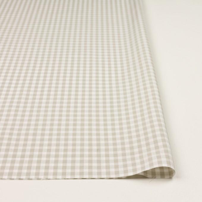 コットン×チェック(グレイッシュベージュ)×ポプリン&斜子織 イメージ3