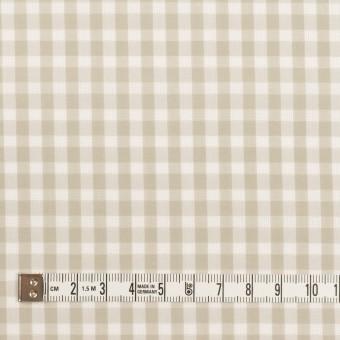 コットン×チェック(グレイッシュベージュ)×ポプリン&斜子織 サムネイル4
