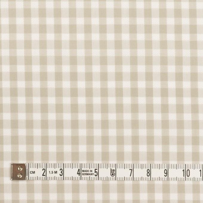コットン×チェック(グレイッシュベージュ)×ポプリン&斜子織 イメージ4