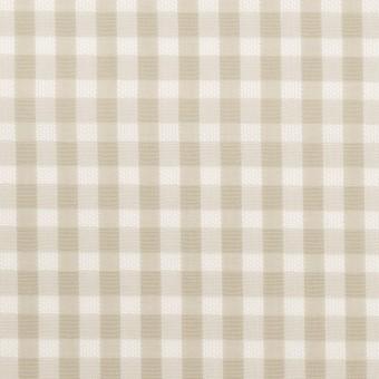 コットン×チェック(グレイッシュベージュ)×ポプリン&斜子織 サムネイル1