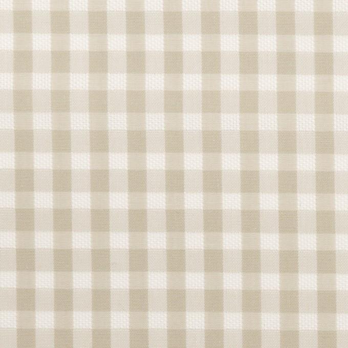 コットン×チェック(グレイッシュベージュ)×ポプリン&斜子織 イメージ1