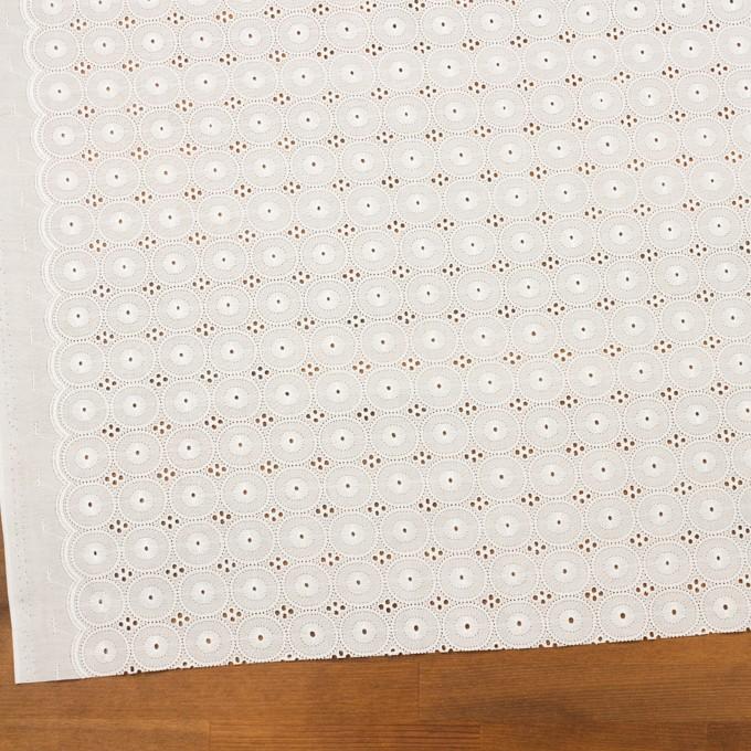 コットン×サークル(オフホワイト)×ローン刺繍 イメージ2