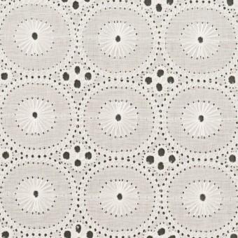 コットン×サークル(オフホワイト)×ローン刺繍 サムネイル1