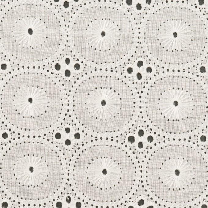 コットン×サークル(オフホワイト)×ローン刺繍 イメージ1