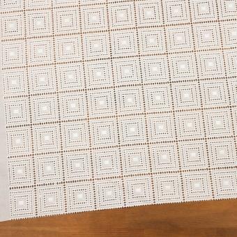 コットン×スクエア(オフホワイト)×ローン刺繍 サムネイル2