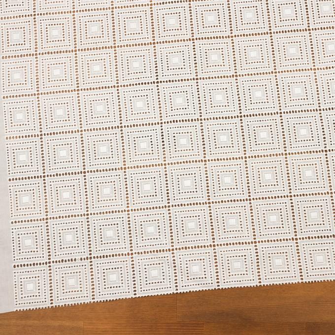 コットン×スクエア(オフホワイト)×ローン刺繍 イメージ2