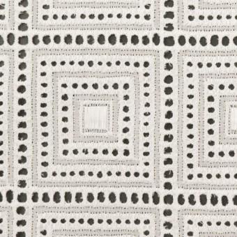 コットン×スクエア(オフホワイト)×ローン刺繍 サムネイル1