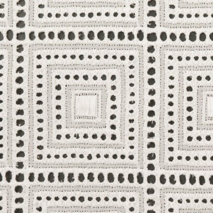 コットン×スクエア(オフホワイト)×ローン刺繍 イメージ1