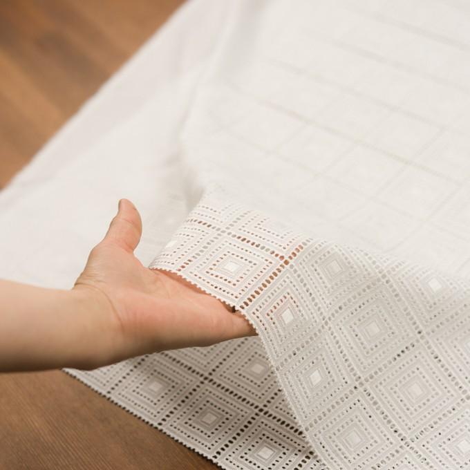 コットン×スクエア(オフホワイト)×ローン刺繍 イメージ5