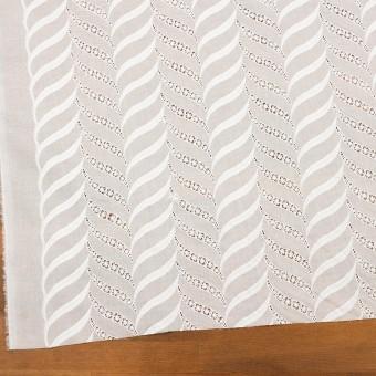 コットン×リーフ(ホワイト)×ボイル刺繍_全2色 サムネイル2