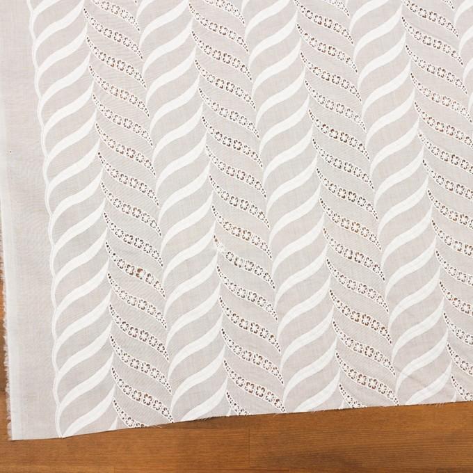 コットン×リーフ(ホワイト)×ボイル刺繍_全2色 イメージ2