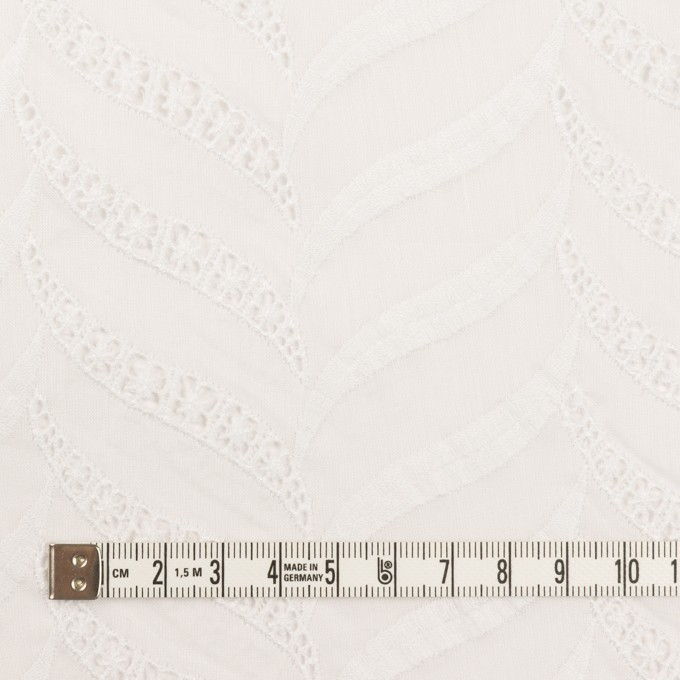 コットン×リーフ(ホワイト)×ボイル刺繍_全2色 イメージ4