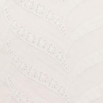 コットン×リーフ(ホワイト)×ボイル刺繍_全2色 サムネイル1