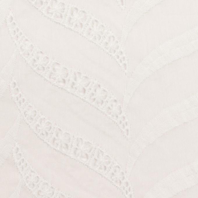 コットン×リーフ(ホワイト)×ボイル刺繍_全2色 イメージ1