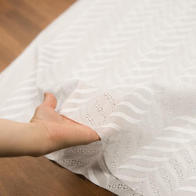 コットン×リーフ(ホワイト)×ボイル刺繍_全2色 イメージ5